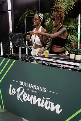 Puertorican Power Duo Coco & Breezy Play A Live DJ Set at La Reunión NYC Presented By Buchanan's Whisky