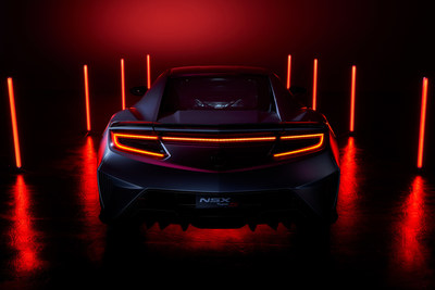 Acura today shared the very first glimpse of the best performing road-legal NSX ever, the limited-production 2022 NSX Type S supercar. A result of the brand's unyielding commitment to Precision Crafted Performance, the NSX Type S raises the already impressive performance of Acura's cutting-edge electrified supercar to new levels, delivering more power, quicker acceleration, sharper handling and a more emotional driving experience.