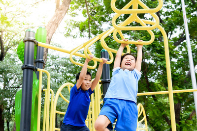 It's important to use lead-free paint for children's playgrounds.